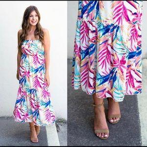 Tropical Strapless Maxi Dress - NWT